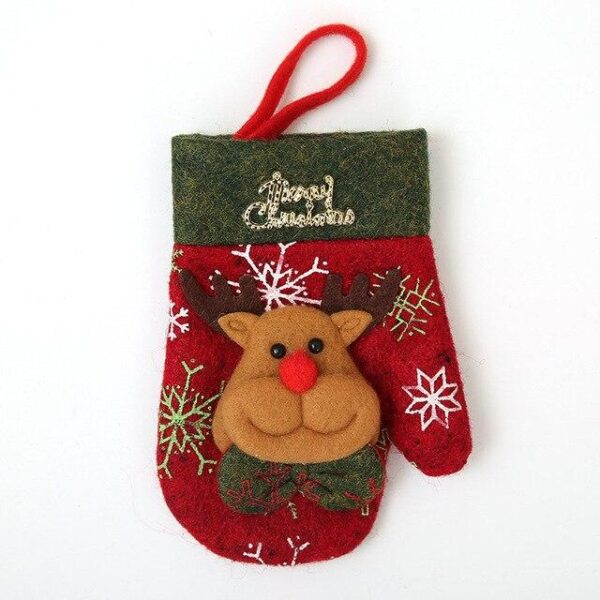 Mini Christmas Tree Stockings And Gloves   Tree Decorations   All For Xmas