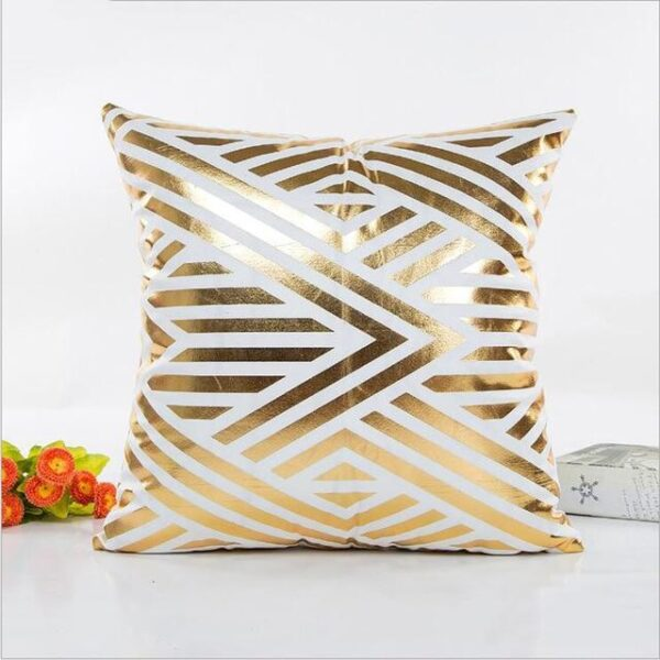 Gold Christmas Holiday Pillow Covers   Decorative Cushion   Home Decor   All For Xmas