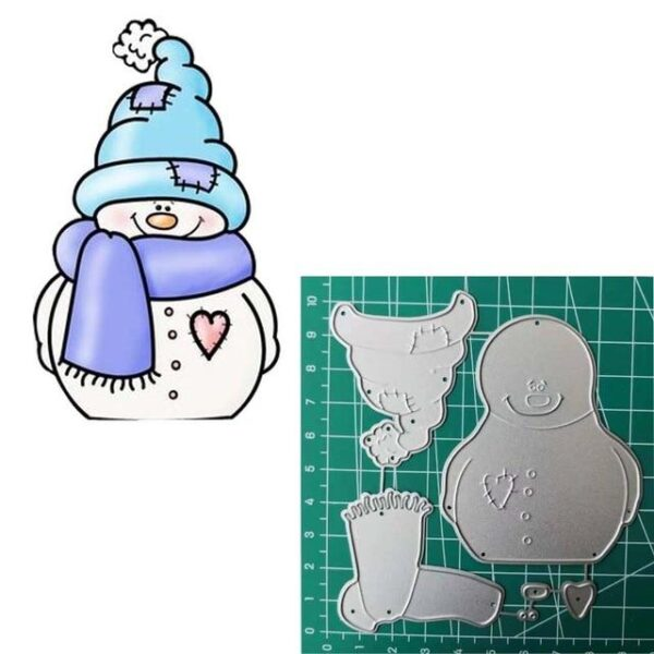 Christmas Snowmen Metal Cutting Die | DIY Scrapbooking | All For Xmas