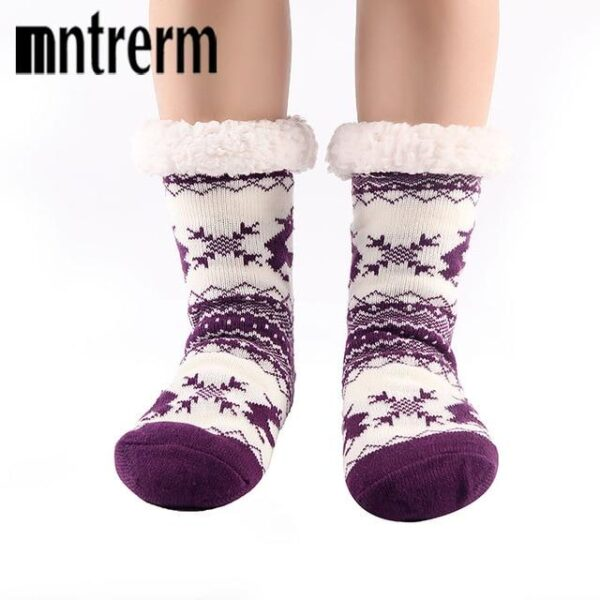 Comfy Plush Thick Christmas Slippers Socks | Christmas Apparel | All For Xmas