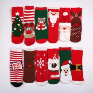 Colorful Short Cotton Blend Children Christmas Socks | Christmas Apparel | All For Xmas