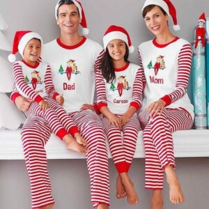 Christmas Family Matching Pajamas - Elf Stripes | Christmas Apparel | All For Xmas