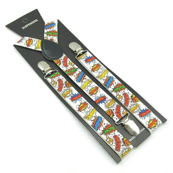 Boom Comics Adult Y-Shaped Suspenders | Christmas Apparel | All For Xmas