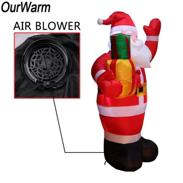 1.5M-5FT Inflatable Giant Santa Claus With LED Lights | Outdoor Decor | All For Xmas