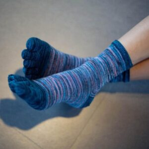 Unisex Five Finger Toe Cotton Socks - One Size   Christmas Apparel   All For Xmas