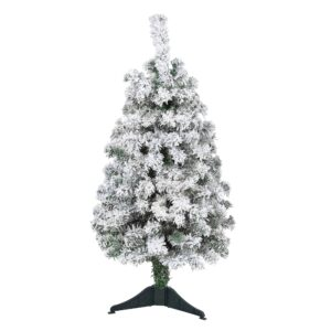 3' Flocked Rock Springs Spruce Artificial Christmas Tree With Faux Snow