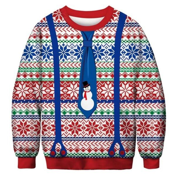 Ugly Christmas Sweater Printed Pullover -Christmas Suit   Christmas Apparel   All For Xmas