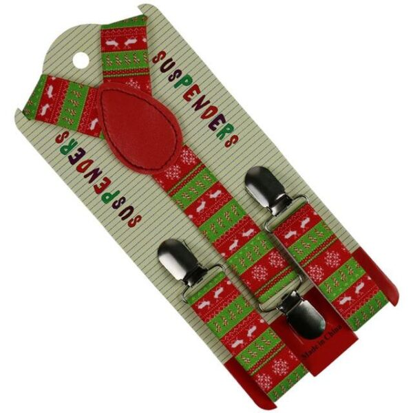 Red Green Y-shaped Suspenders For Christmas | Children Christmas Apparel | All For Christmas
