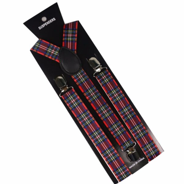 7 Patterns Winter-Plaid Adult Y-Shaped Suspenders | Christmas Apparel | All For Xmas