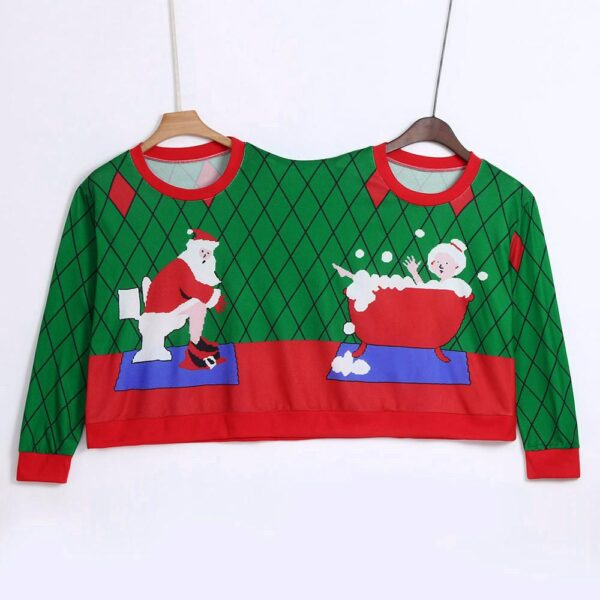 Couples Ugly Christmas Pullover - Santa And Mrs Claus | Christmas Apparel | All For Xmas