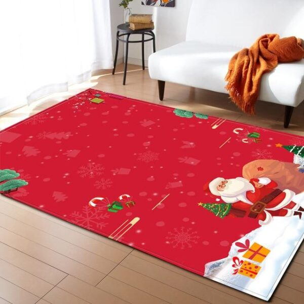 Christmas Red Microfiber Decorative Area Rug Carpet - Different Sizes | Home Decor | All For Xmas