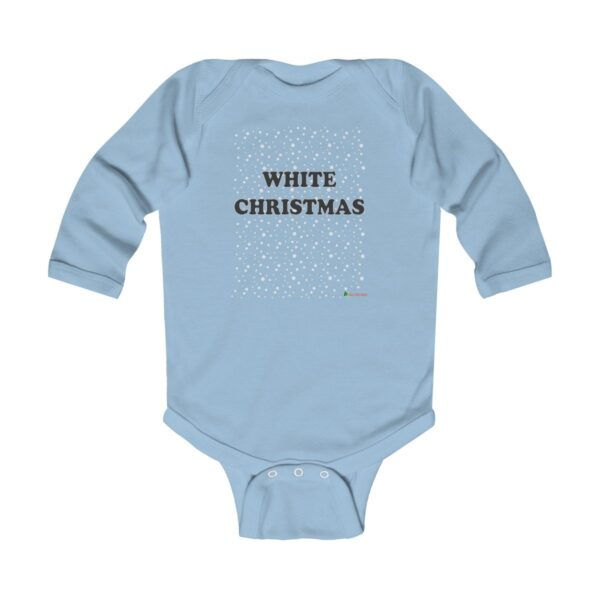 Baby Long Sleeve Bodysuit | White Christmas | Multiple Colors | Christmas Apparel | All For Xmas