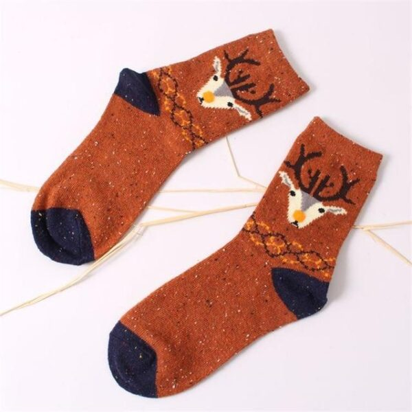 Winter Women Short Wool Cotton Blend Socks | Christmas Apparel | All For Xmas