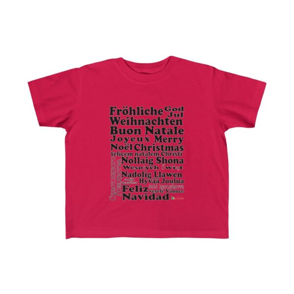 Toddler T-Shirt | Merry Christmas | Many Colors | Christmas Apparel | All For Xmas