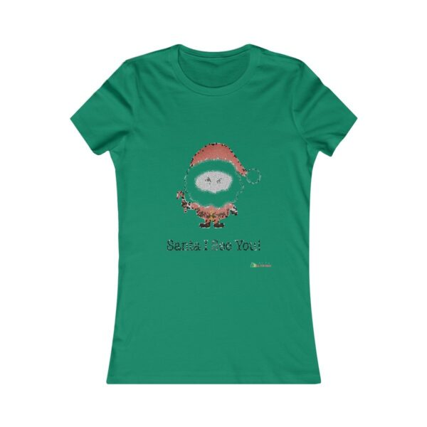 T-Shirt | Santa I See You Women Cotton Tee | Christmas Apparel | All For Xmas