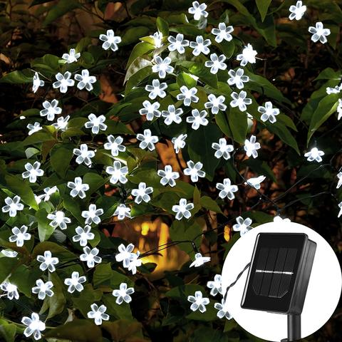 solar flower blossom lights